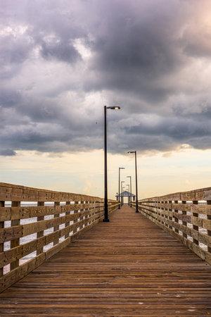 Biloxi, Mississippi, USA at Lighthouse Pier.