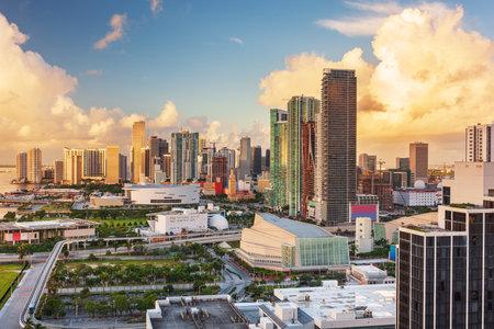 Miami, Florida, USA downtown cityscape at dusk. 版權商用圖片