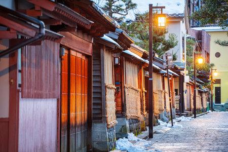 Kanazawa, Japan at the Samurai District during twilight.