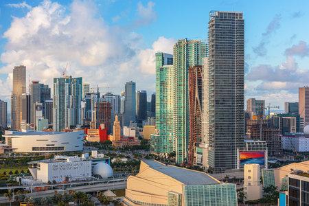 Miami, Florida, USA downtown cityscape in the day. 版權商用圖片