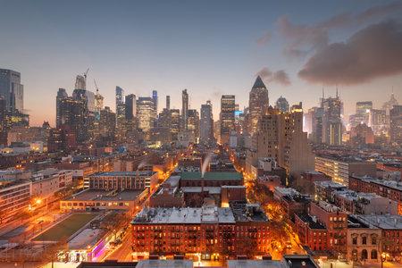 New York, New York, USA Midtown Manhattan cityscape. Фото со стока