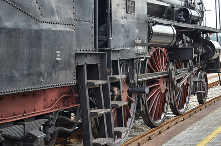 steam locomotive: Classic steam locomotive at the station