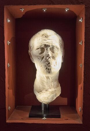 escultura romana: Vista de la antigua escultura del famoso romano