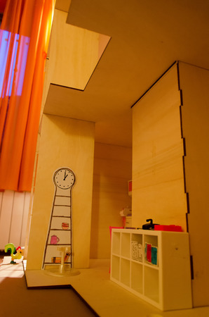 dollhouse: Detail of the inside of a dollhouse Stock Photo
