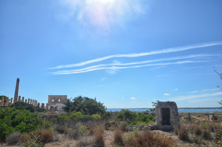 fishery: View of the ruins of old tuna fishery in Sicily