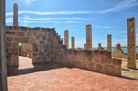 fishery: View of the ruins of the tuna fishery of Vendicari