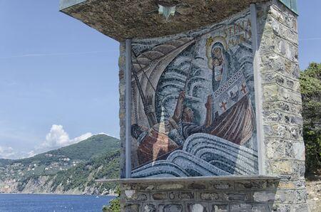 aureole: View of the mosaic at Punta Chiappa near Camogli