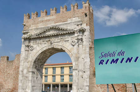 augustus: Picture postcard of the arch of Augustus