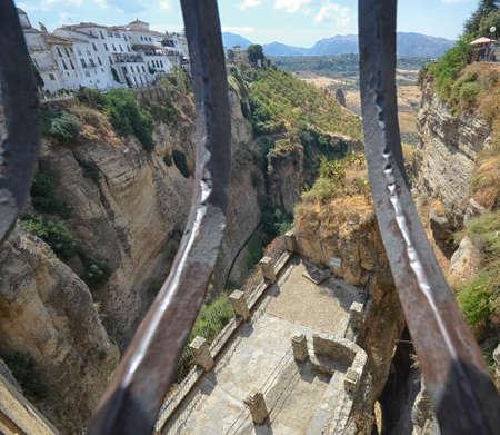 celebrated: View from the celebrated bridge of Ronda Stock Photo