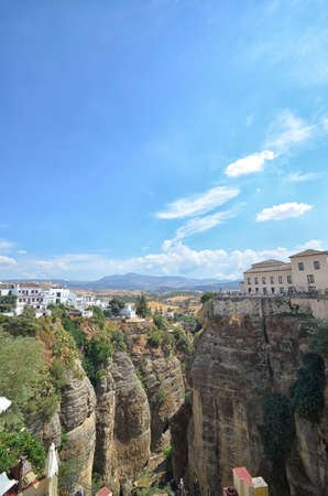 ronda: View of the famous gorge of Ronda