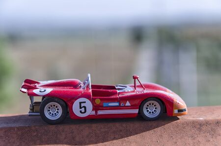 cars race: View model of a old racing car in the sun