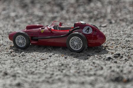 seater: View of model of a classic single seater car Stock Photo