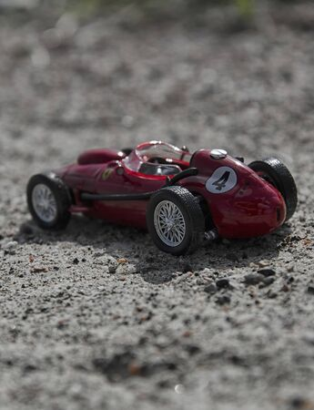 seater: View of model of a old single seater car Stock Photo