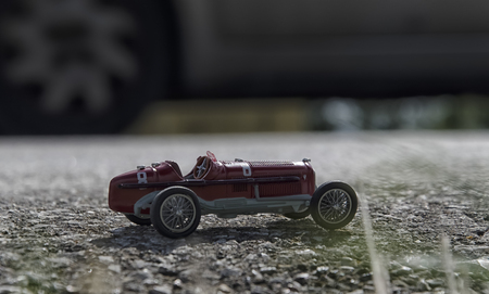 seater: Toy model of a red single seater car
