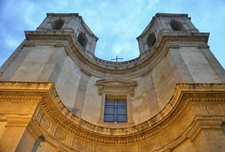 scenical: Sicilian Baroque in a church of Noto Stock Photo