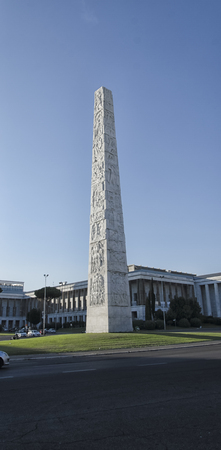rationalist: View of the rationalist obelisk of Rome
