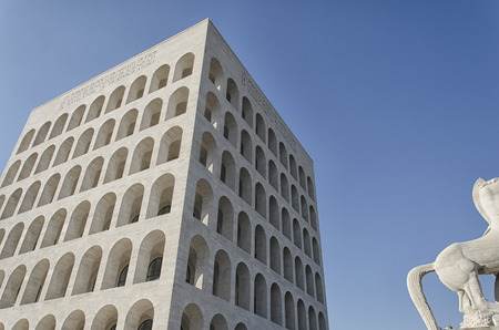 View of typical example of Italian rationalist architecture
