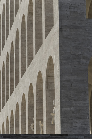rationalist: Detail of typical example of Italian rationalist architecture
