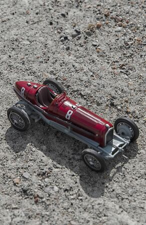 seater: Scale model of a vintage single seater car