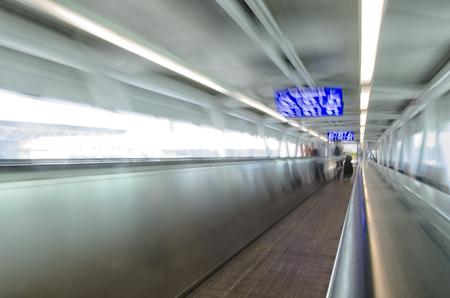 conveyor belt: View of conveyor belt in the airport of Rome Editorial