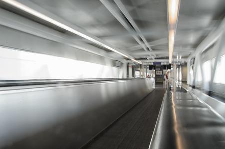 conveyor belt: View of conveyor belt in a airport