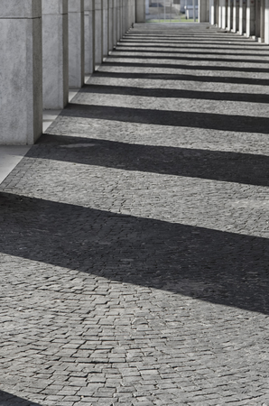 rationalism: Shadow play in a famous district of Rome Stock Photo