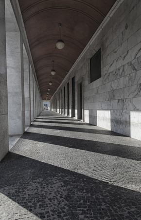 rationalist: Rationalist architecture in a famous district of Rome Editorial