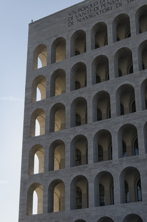 rationalist: Building example of Italian rationalist architecture in Rome