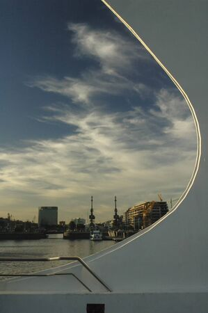 fascinating: Fascinating view of Puerto Madero in the evening Stock Photo