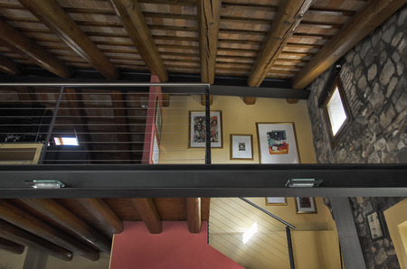 luxury apartment: View of the beams of a luxury apartment