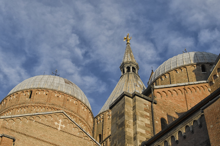 romanesque: Domes of the Basilica of St. Anthony in Padua Stock Photo