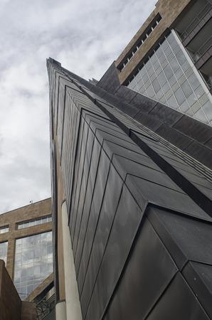 futurist: Lines and triangles in a futurist architecture Stock Photo