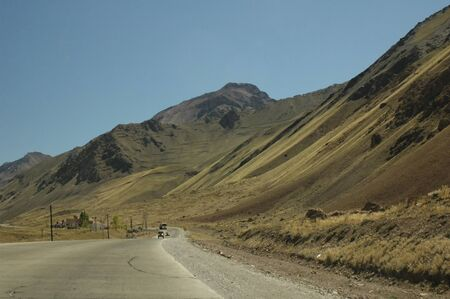 aconcagua: Mountain road of the Cordillera of the Andes