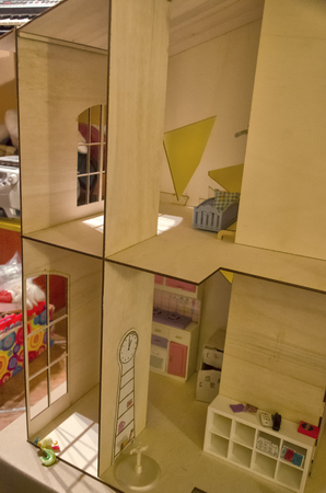 doll house: View of the furnishings of a doll house