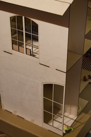 dollhouse: View of doll house complete with furniture