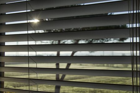 penumbra: Venetian blind which lets in the sunlight Stock Photo