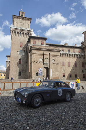 prix: Ferrara, Italy - September 20, 2015: Classic car at the start of the Nuvolari Grand Prix. Editorial