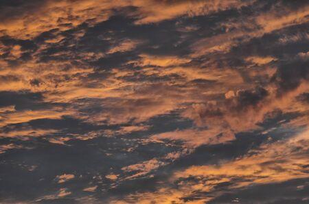 mood moody: View of beautiful sky in an Italian sunset Stock Photo