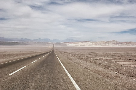 nowhere: Endless road in the middle of nowhere