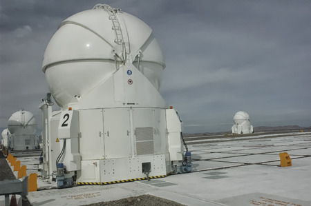 One of the telescopes of the Cerro Paranal Observatory