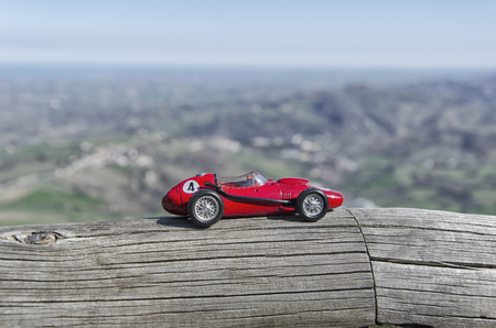 festival scales: Scale model of famous red car at San Marino