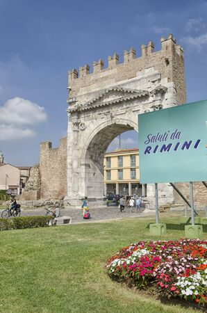 augustus: View of the famous Arch of Augustus