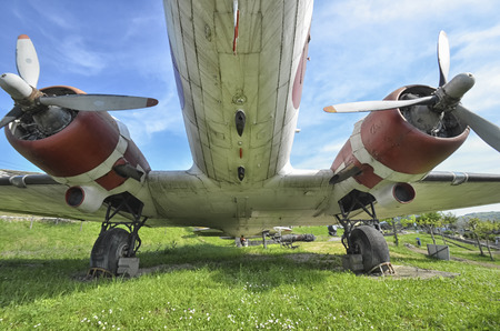 monoplane: The radial engines of the famous DC-3 aircraft Editorial