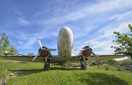 monoplane: Front view of the famous DC-3 Dakota aircraft Editorial