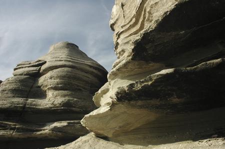 sinuous: Sinuous shape of the rock near Antofagasta
