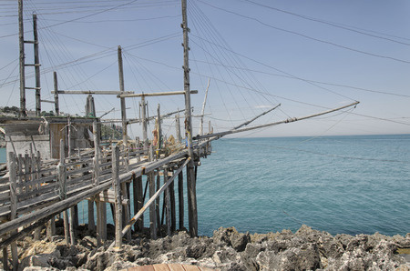 pile dwelling: A old trabucco, a typical construction for fishing