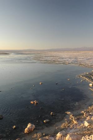 penumbra: The famous Salar de Atacama at the sunset