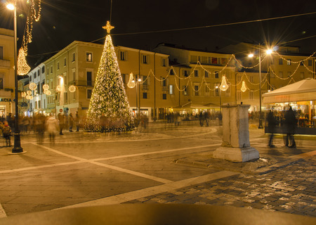 martiri: Hunting for gifts in the historic center Stock Photo