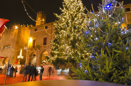 hectic life: View of the Christmas village of Rimini