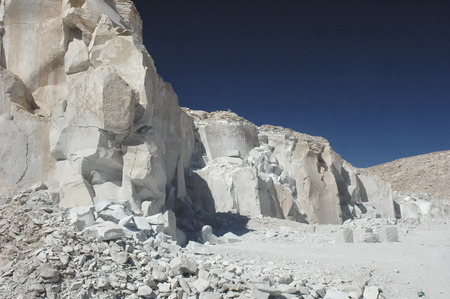 View of the gypsum quarry of Toconao Stock Photo